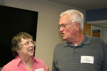 Attendees talking at the Retiree Luncheon on March 26, 2016